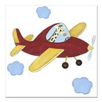 Giraffe - Airplane Square Car Magnet 3