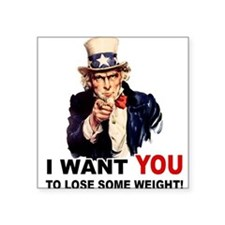 """LOSE WEIGHT.png Square Sticker 3"""" x 3"""""""