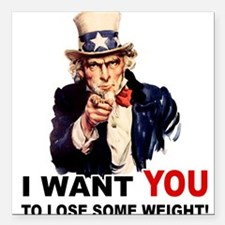 "LOSE WEIGHT.png Square Car Magnet 3"" x 3"""