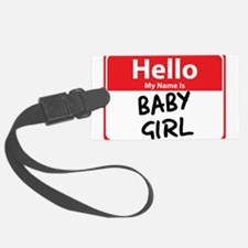 baby girl.png Luggage Tag