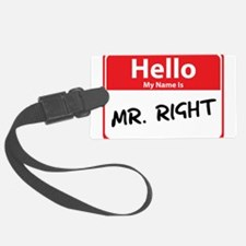 mr right.png Luggage Tag
