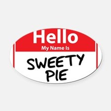 sweety pie.png Oval Car Magnet