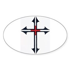 SOLDIER FOR CHRIST Oval Stickers