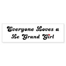Le Grand girl Bumper Bumper Sticker