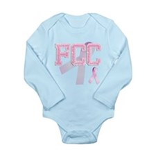 FCC initials, Pink Ribbon, Long Sleeve Infant Body