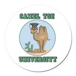 camel toe university copy.png Round Car Magnet
