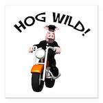 hog wild pig.png Square Car Magnet 3