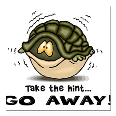 turtle hiding in shell copy.jpg Square Car Magnet
