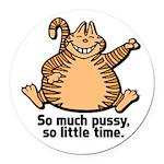 fat cat.psd Round Car Magnet