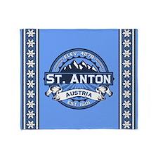 St. Anton Blue Throw Blanket