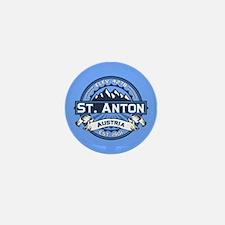 St. Anton Blue Mini Button