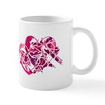 Abstract Pink-Purple Hearts Mug