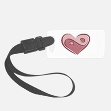 yin yang heart.png Luggage Tag
