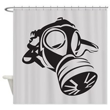 Cool Gas Mask Shower Curtain