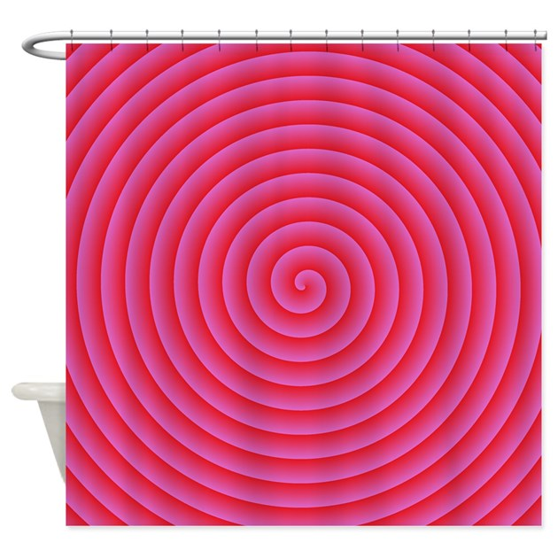 Pink Red Spiral Shower Curtain By Happypretty