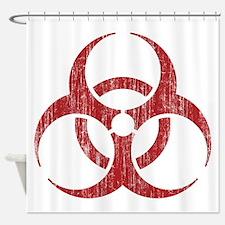 Vintage Biohazard Shower Curtain