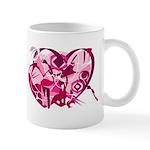 Firey Art Heart Mug