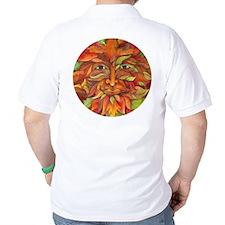 Celtic Leaf & Autumn Greenman T-Shirt