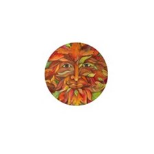 Autumn Greenman Mini Button