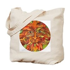 Autumn And Summer Greenman Tote Bag