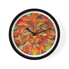 Autumn Greenman Wall Clock