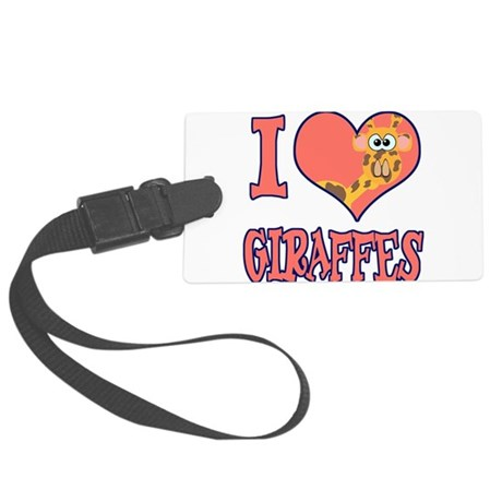 love giraffes.png Large Luggage Tag