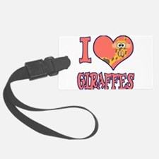 love giraffes.png Luggage Tag
