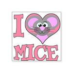 love mice.png Square Sticker 3