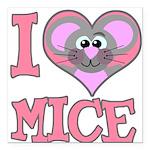 love mice.png Square Car Magnet 3