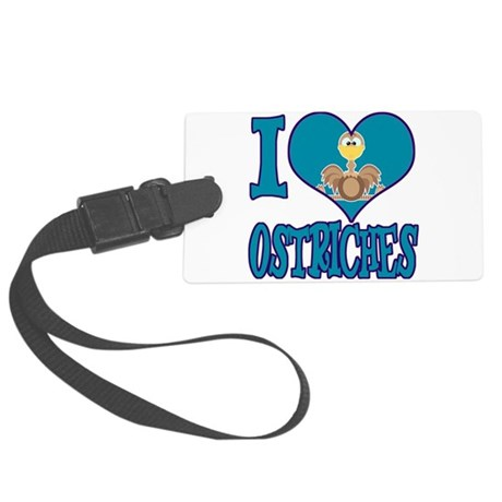 love ostriches.png Large Luggage Tag