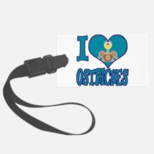 love ostriches.png Luggage Tag