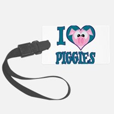 love piggies.png Luggage Tag