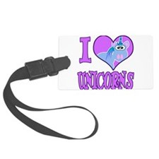 love unicorns.png Luggage Tag