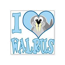 "love walrus.png Square Sticker 3"" x 3"""