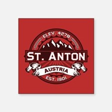"St. Anton Red Square Sticker 3"" x 3"""