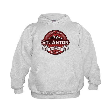 St. Anton Red Kids Hoodie