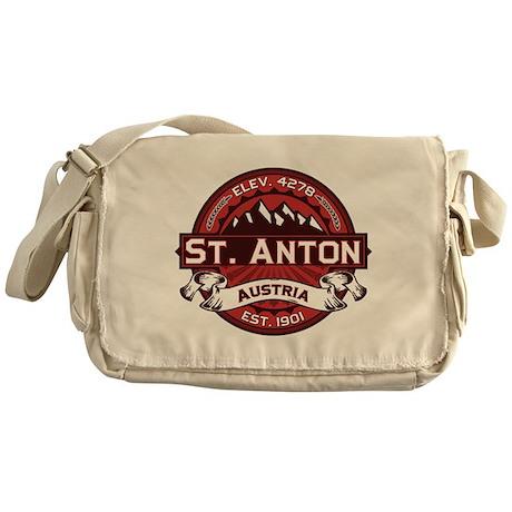 St. Anton Red Messenger Bag