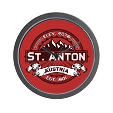 St. Anton Red Wall Clock