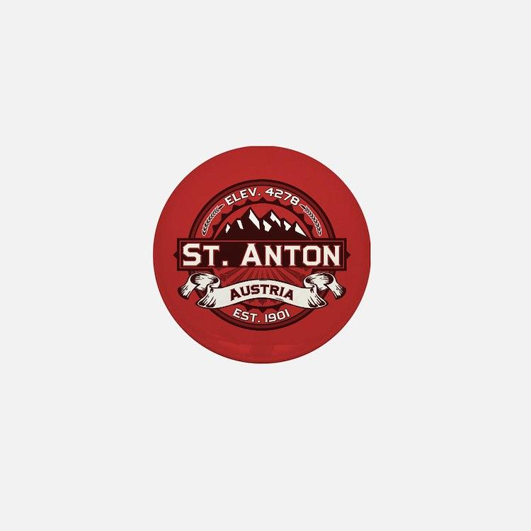 St. Anton Red Mini Button