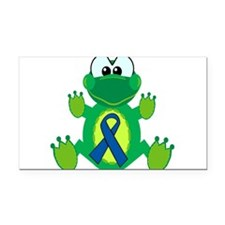 blue ribbon froggy copy.png Rectangle Car Magnet