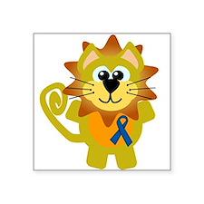 "blue ribbon lion copy.png Square Sticker 3"" x 3"""