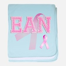 EAN initials, Pink Ribbon, baby blanket