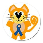 blue ribbon orange kitty cat copy.png Round Car Ma