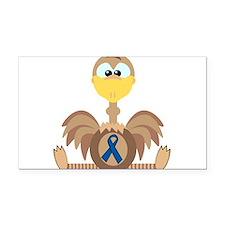 blue ribbon ostrich copy.png Rectangle Car Magnet