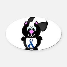 blue ribbon skunky copy.png Oval Car Magnet