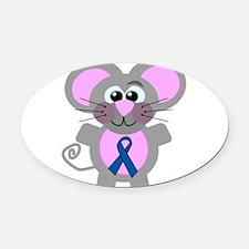 blueribbon mouse copy.png Oval Car Magnet