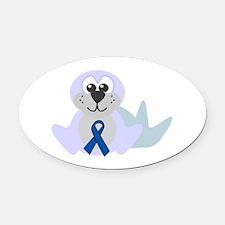blueribbon seal copy.png Oval Car Magnet