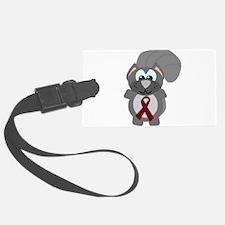 burg ribbon squirrel copy.png Luggage Tag