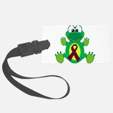 burg ribbon froggy.png Luggage Tag