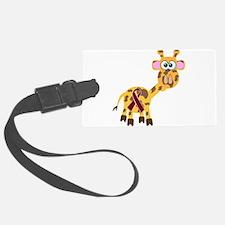 burg ribbon giraffe copy.png Luggage Tag